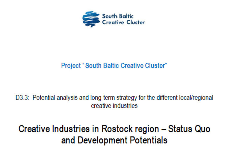 SB Creative Clusters: Regional analysis and strategy paper for Rostock region